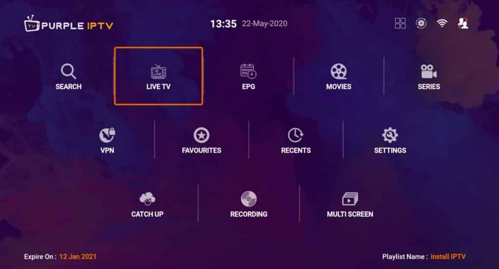 IPTV Smart Purple